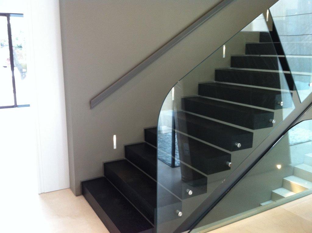 Suelos y barandillas de cristal vetrolux - Escaleras con barandilla de cristal ...