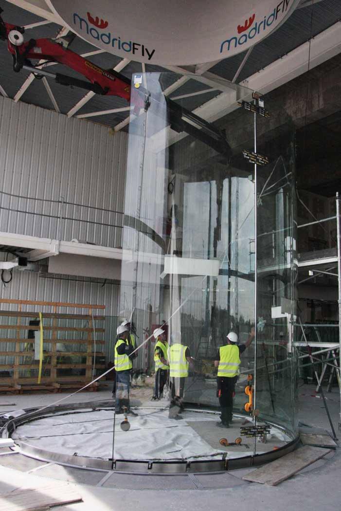 Vidrio curvado en Madrid