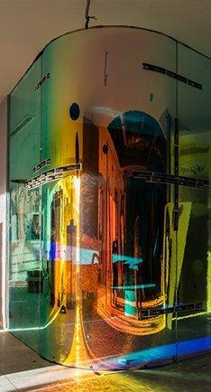 Oficinas para Natixis España trabajo en vidrio y decoración